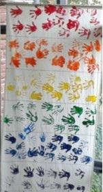 Regenbogenflagge vom RBFS2013