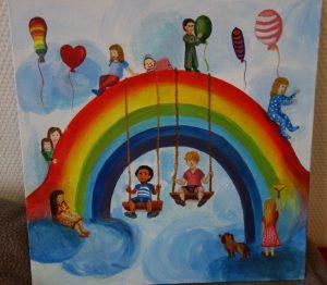 Gemälde Regenbogenfamilie