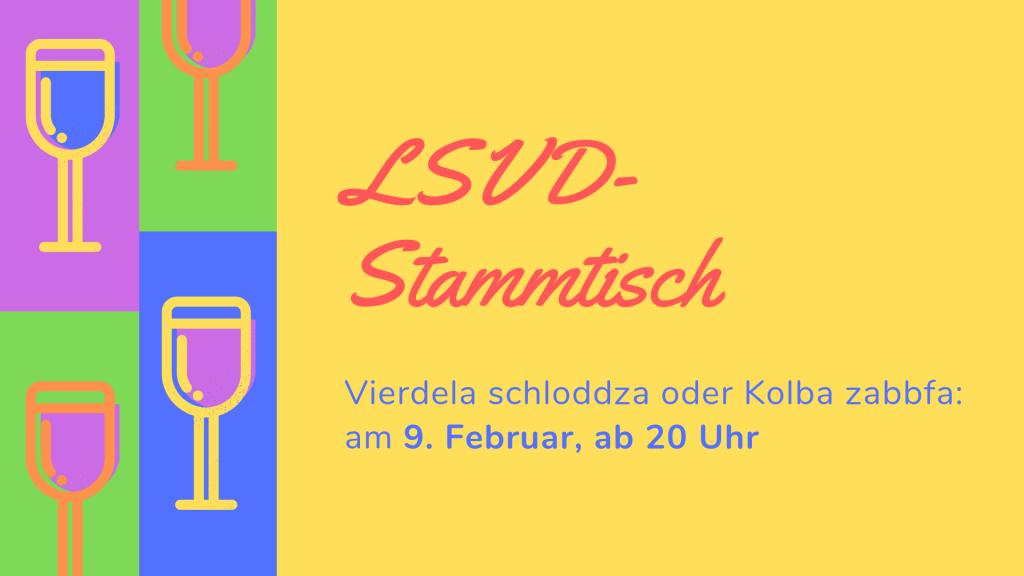 """erster LSVD-Stammtisch am 9.2. im """"Ruben's"""""""