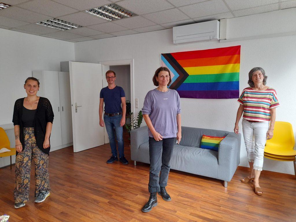 BerTA Team mit Schirmfrau Brigitte Lösch
